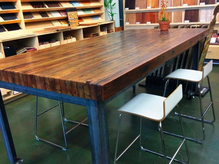 how to make a butcher block table out of 2x4