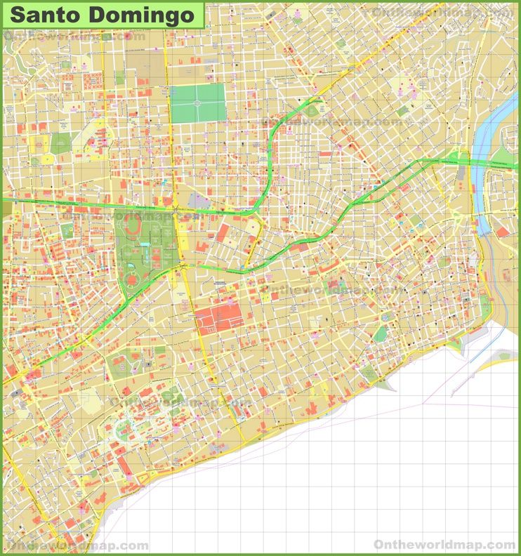 Santo Domingo city center map Maps Pinterest Santo domingo