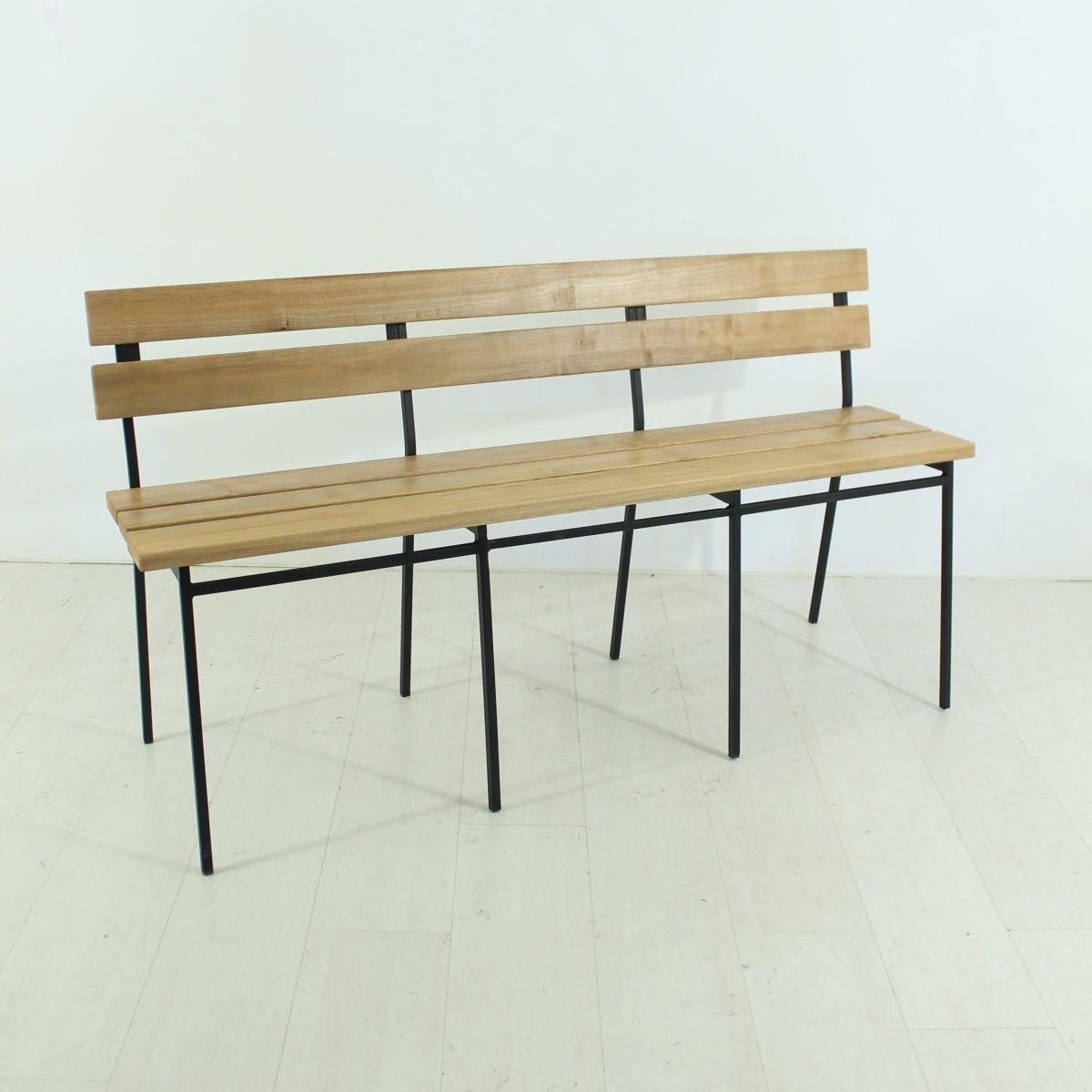 Surprising Vintage Oak Bench With Backrest 1960S Mission Porch Oak Download Free Architecture Designs Ferenbritishbridgeorg