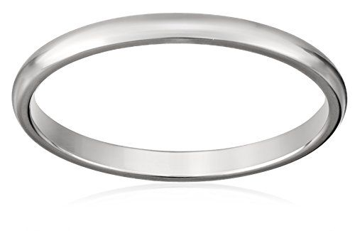 Women's 14k White Gold 2mm Traditional Plain Wedding Band, Size 9 Amazon Curated Collection http://www.amazon.com/dp/B001AEGS1A/ref=cm_sw_r_pi_dp_dRjgub0P26CA4