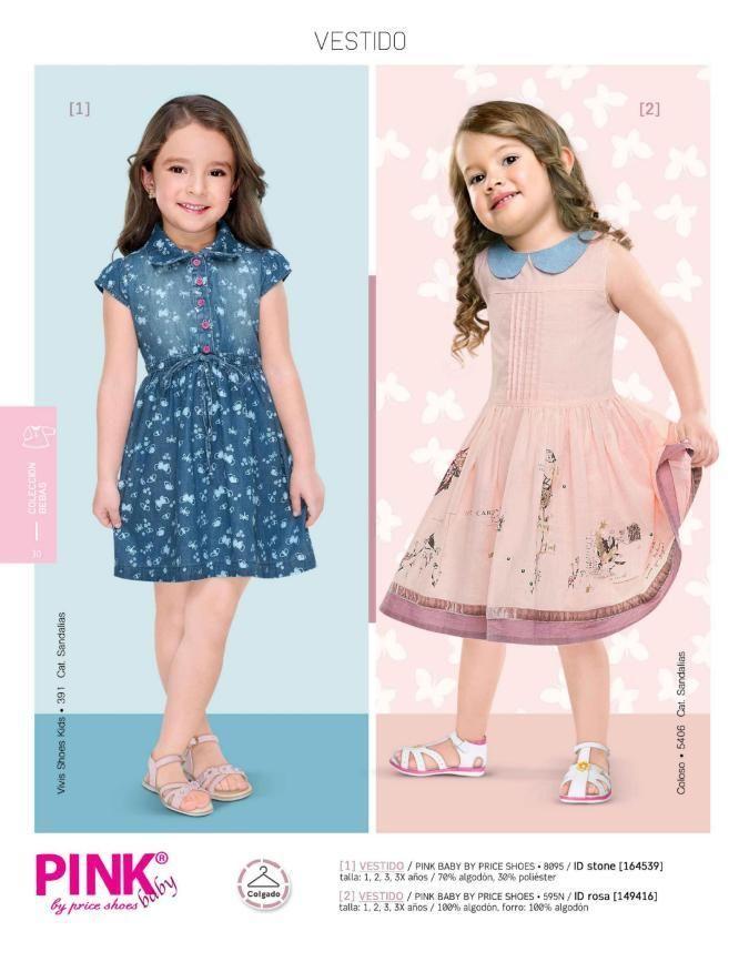 f450ff7fd Vestidos de moda para verano, catalogo Price Shoes. Vestidos para niñas,  vestidos infantil