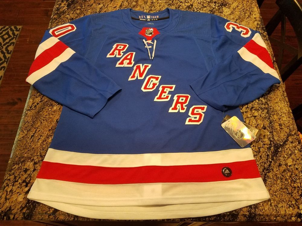 HENRIK LUNDQVIST NY RANGERS ADIDAS AUTHENTIC PRO HOME NHL HOCKEY JERSEY  SIZE 52  adidas  NewYorkRangers 5ed48dc3c12