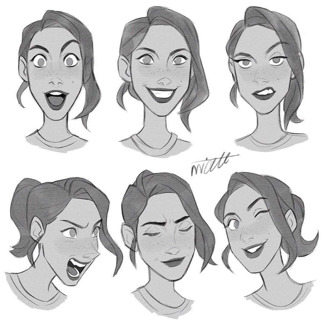 Facial Expressions Character Characterdesign Face