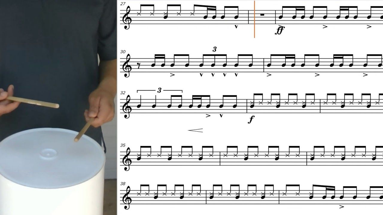 Havana Bucket Drumming With Sheet Music Notes Soundslice
