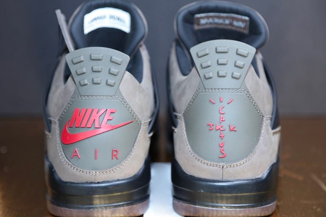 best service 29f19 37a2a Travis Scott Air Jordan 4 Olive Closer Look sneaker release Info Date  Cactus Jack Brand Brown Friends   Family Another