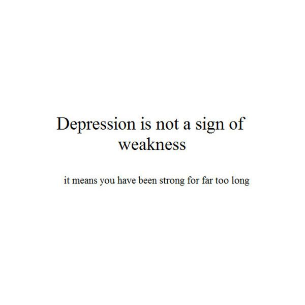 "Depression. It's not who I am, but it is part of what makes me, ""me"" and I make no apologies for that."