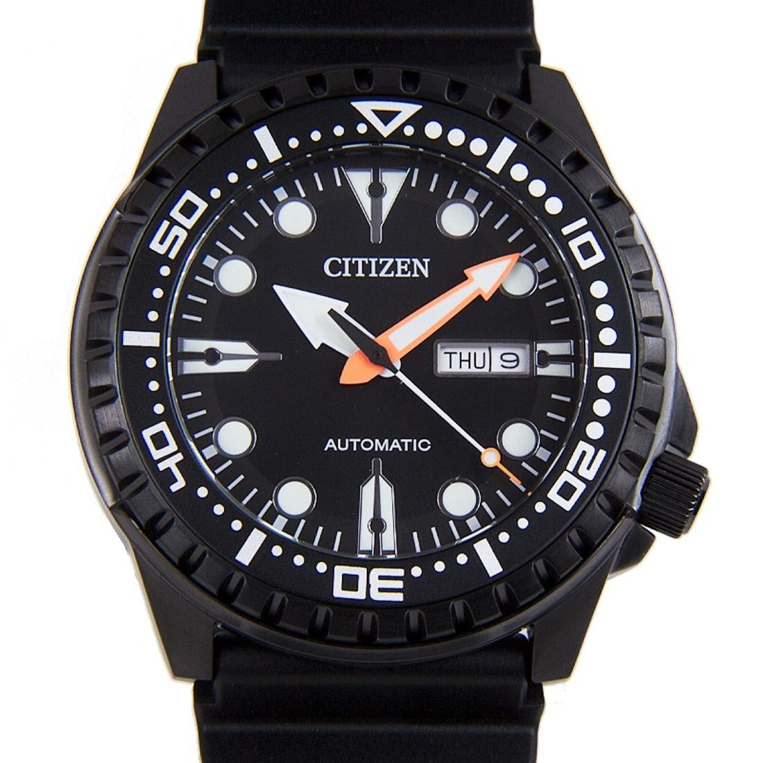Citizen Automatic Gents Black Dial Marine Sports Rotating