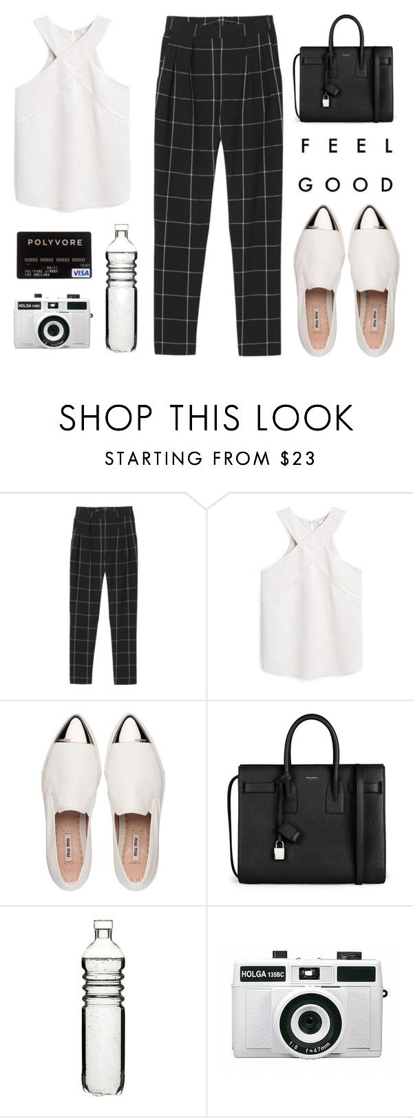 """Shopping Spree"" by alexis-belaruano ❤ liked on Polyvore featuring Monki, MANGO, Miu Miu, Yves Saint Laurent, Sagaform and Holga"