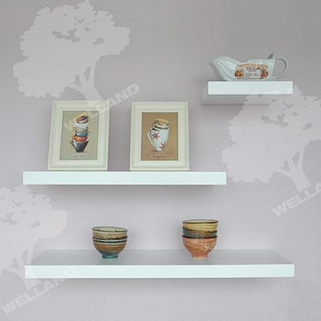Chic White Floating Shelves DIY - Chic White Floating Shelves DIY Corner Space Pinterest