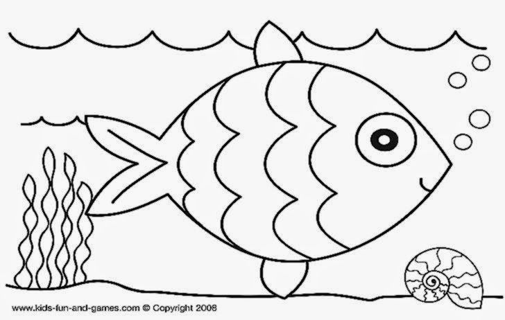 Toddler Coloring Sheets Fish Coloring Page Preschool Coloring Pages
