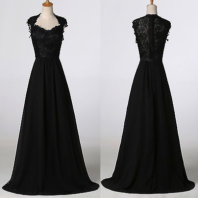 Vintage Long Evening Formal Party Ball Gowns BRIDAL Lace Masquerade ...