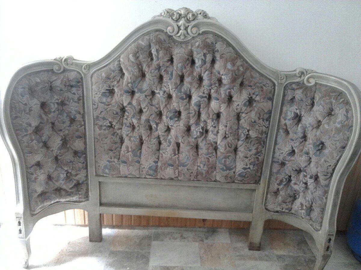 Cama Antigua Retro Completa Estilo Luis 15 Capitoneada Labra  # Muebles Luis Xv Mercadolibre