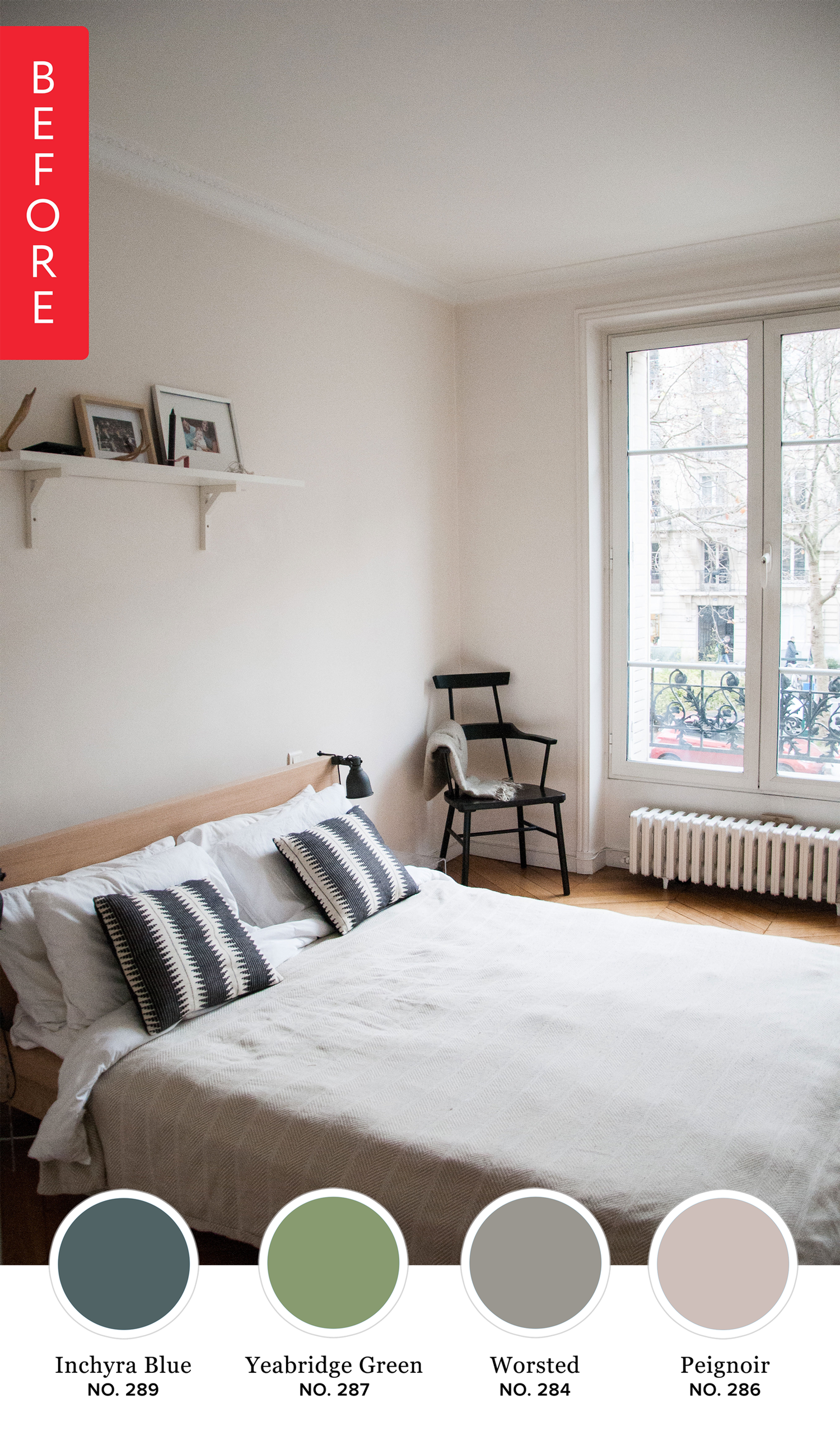 Before & After: See Which Colour Katy Painted Her Bedroom — Farrow & Ball
