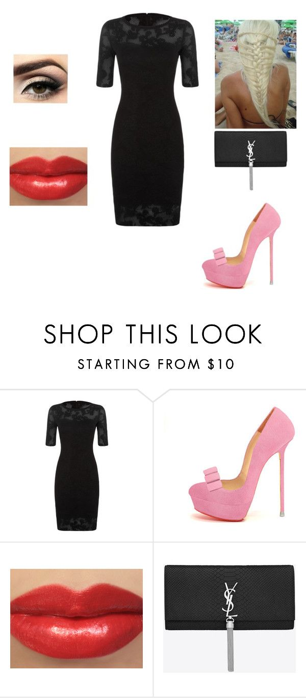 """Untitled #485"" by moonyshoes ❤ liked on Polyvore featuring St. John, Disney and Yves Saint Laurent"