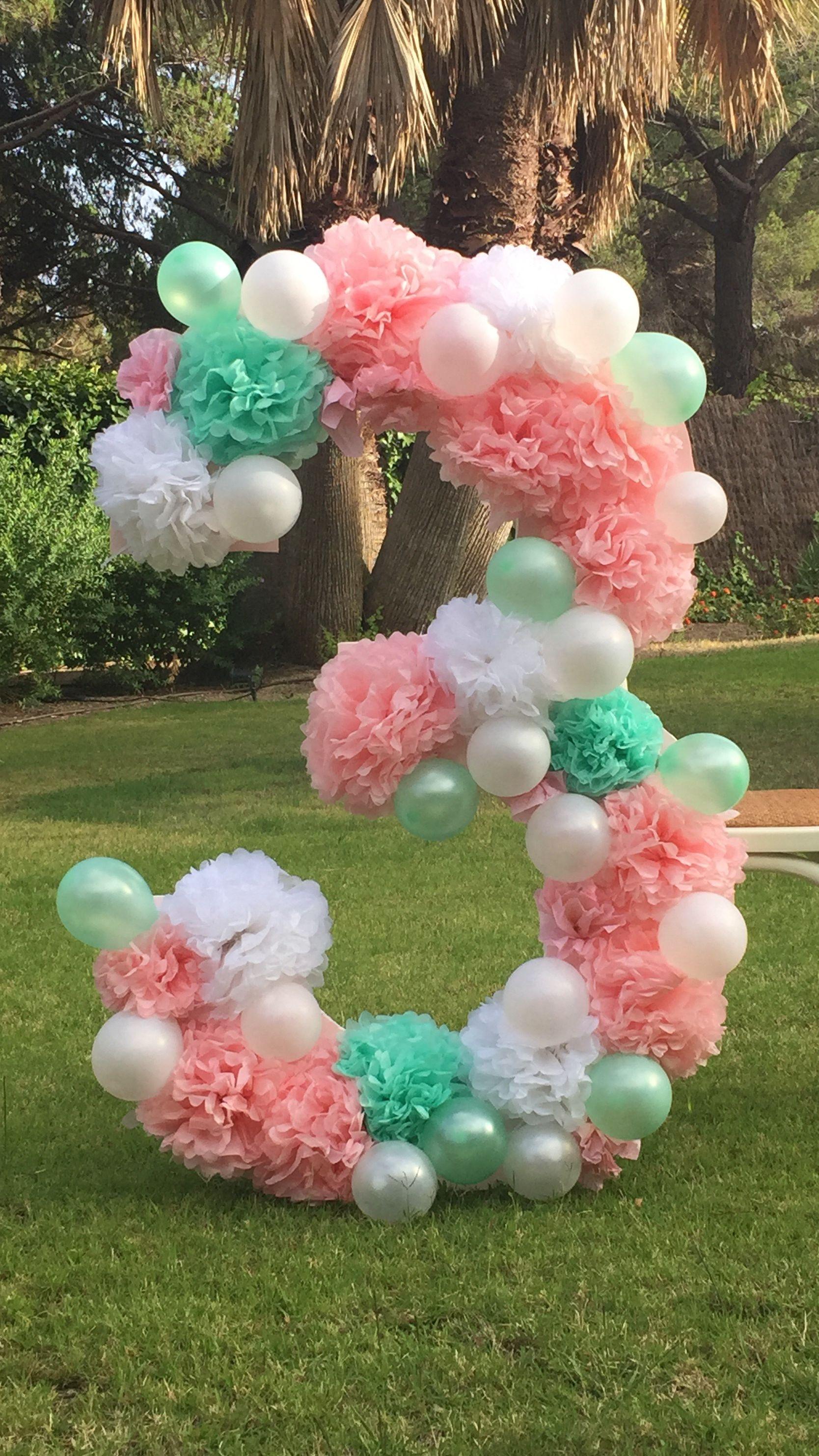 Diy n mero xl decorado para photocall globos para for Decoracion de photocall