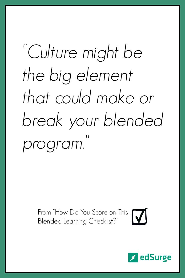How do you score on this blended learning checklist