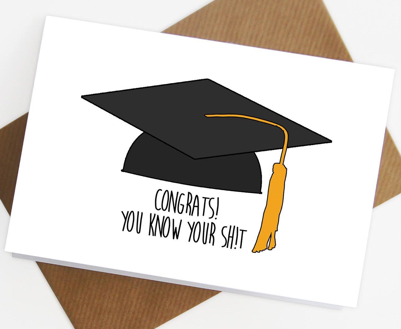 Graduation card congratulations on your graduation funny