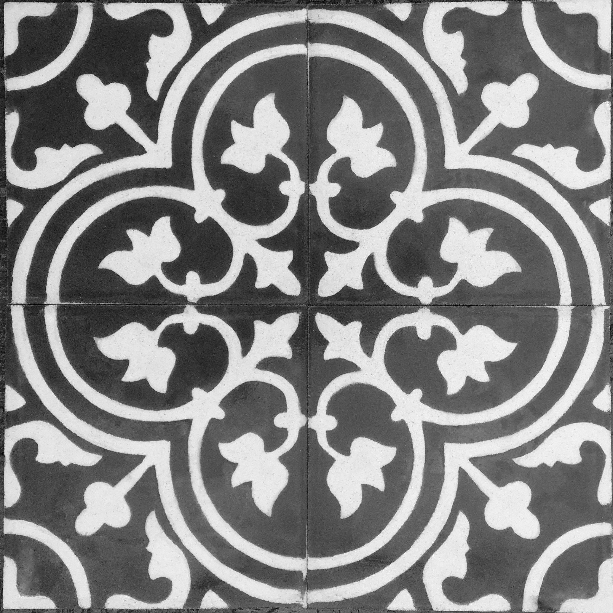 Vrai Carreau Ciment Pas Cher Lys Noir Carrelage Mosaique Et Carreau De Ciment Noir Et Blanc Avec Images Carreaux De Ciment Noir Et Blanc Carreaux Ciment Carreau De Ciment