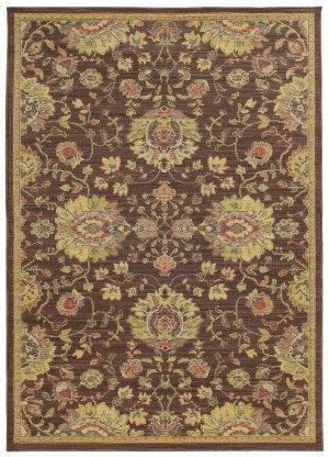 RugStudio presents Tommy Bahama Cabana 002n2 Brown Machine Woven, Good Quality Area Rug