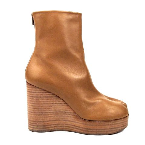 Boots for Women, Booties On Sale, Brown, Leather, 2017, 7.5 8.5 Maison Martin Margiela