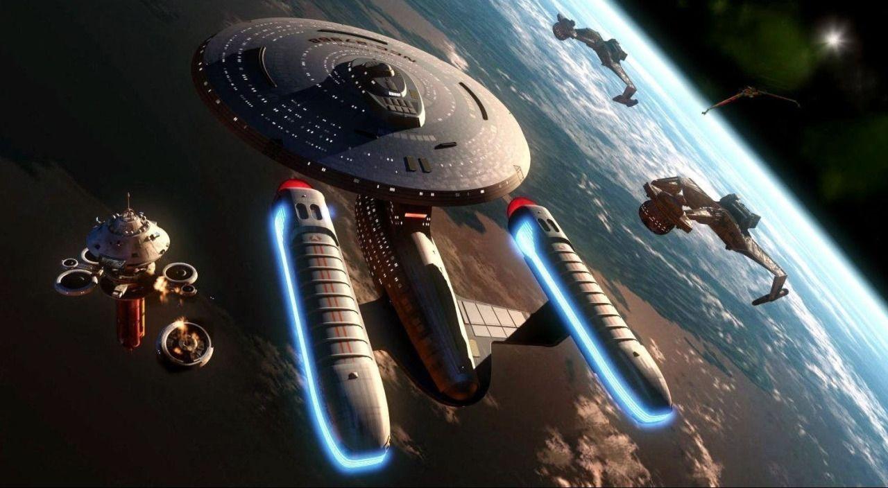 Ambassador Class Vs Klingons Wallpaper Star Trek Wallpaper Star Trek Starships Star Trek Ships