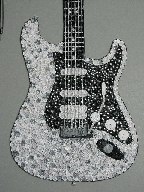 Quilled Fender Guitar