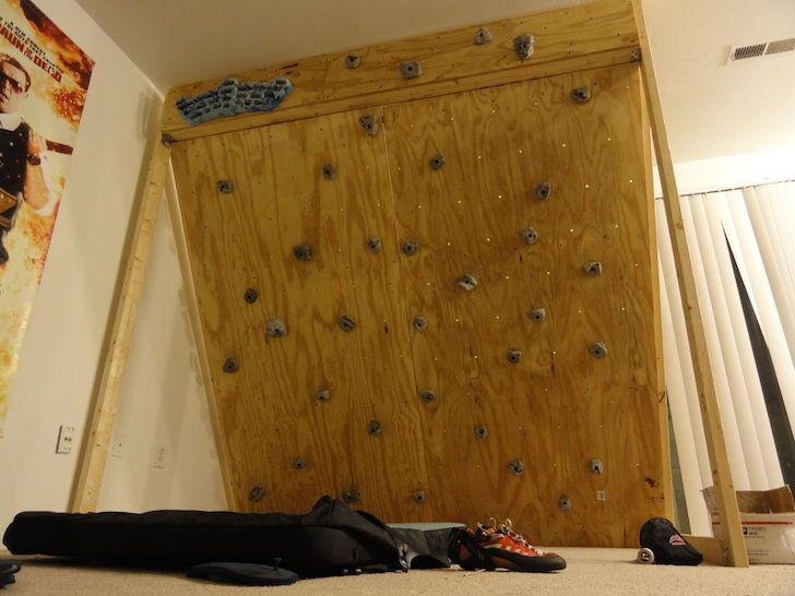 Build Your Own Affordable Freestanding Climbing Wall Diy Climbing Wall Indoor Climbing Wall Rock Climbing Wall