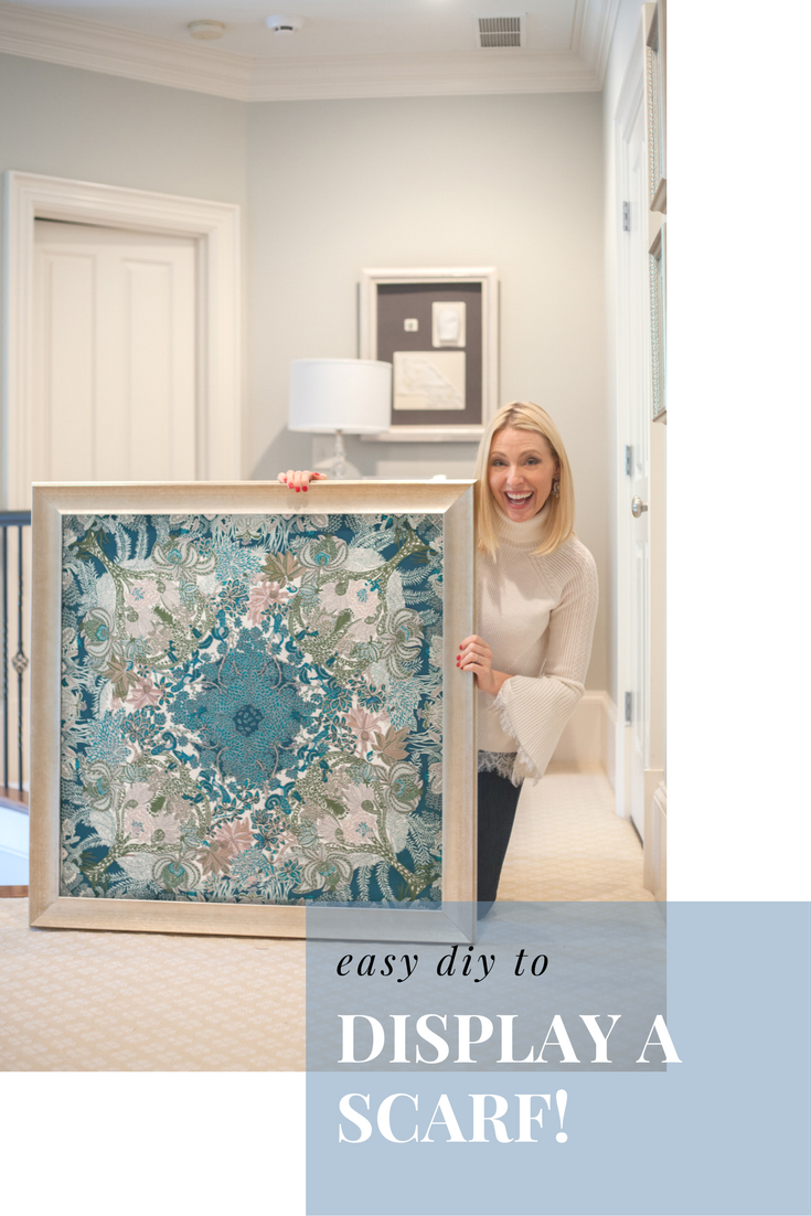 Easy Diy To Make A Frame Customizable Hang Scarf Fabric Family Heirloom Of Photograph Learn How Change Out Your Artwork So Wall Decor Can