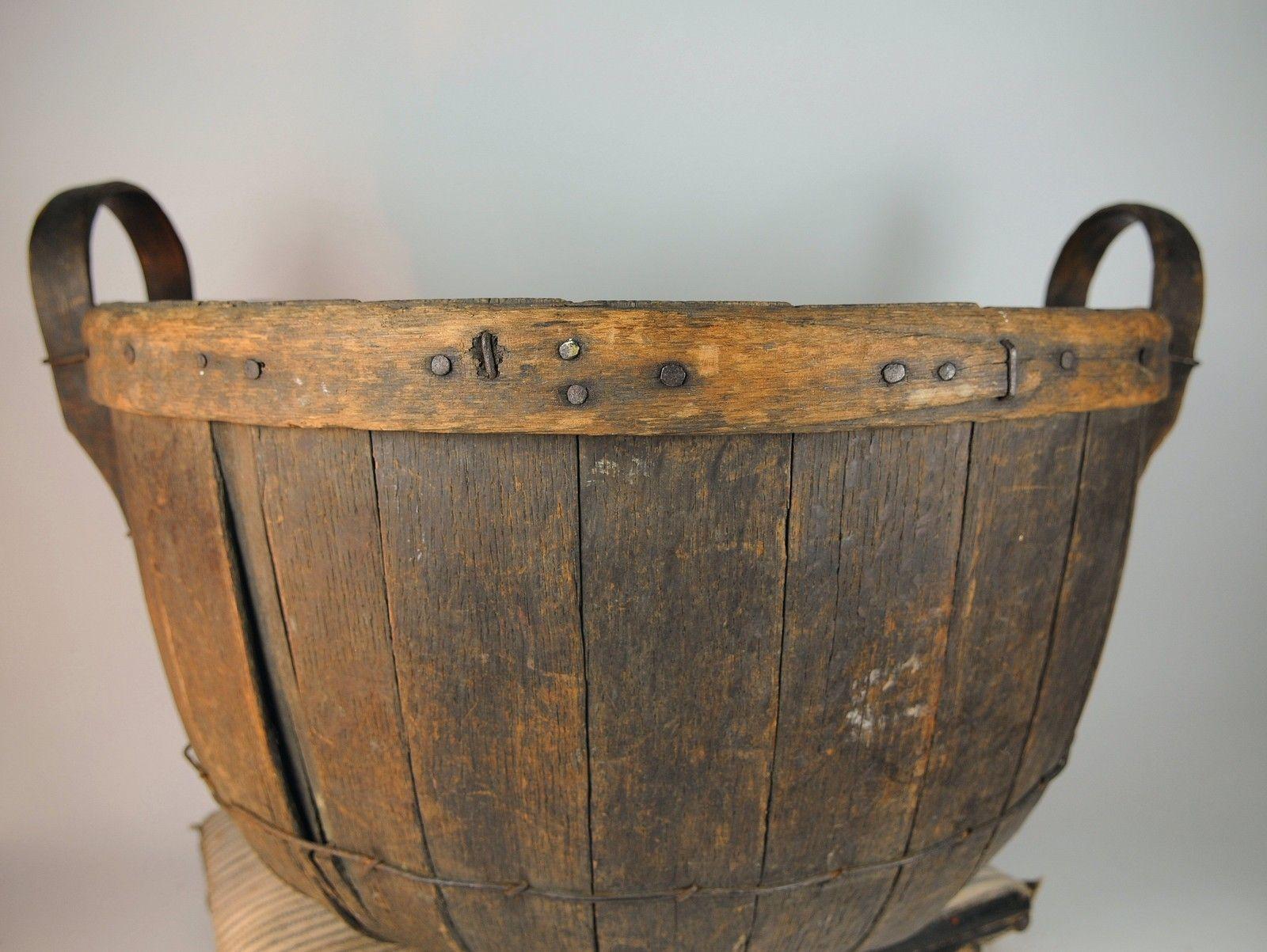 Primitive 1800 S Apple Basket Bushel Basket Excellent