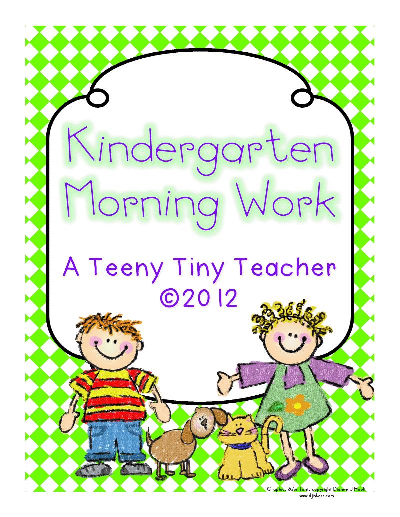 Kindergarten Morning Work Freebie.pdf - Google Drive