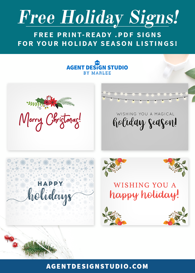 FREE REAL ESTATE PRINTABLES! Free Printable .PDF Signs for Holiday ...