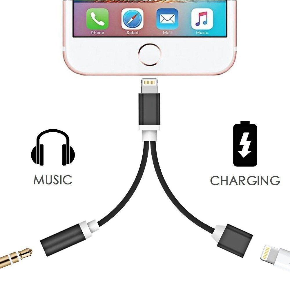 2 in 1 iPhone 7/ 7 Plus Adapter. Headphone Jack/USB Charger