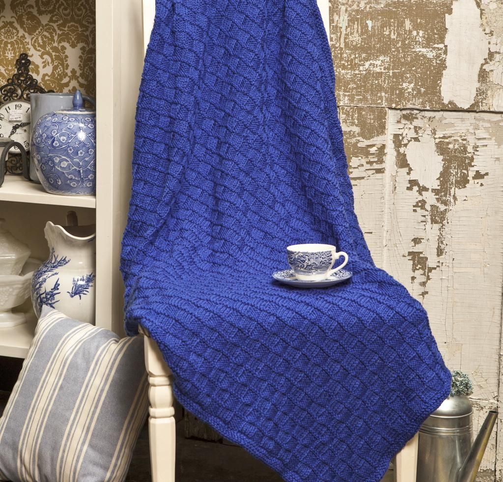 Easy Baby Blanket Knitting Pattern - Free | Craft Ideas | Pinterest ...