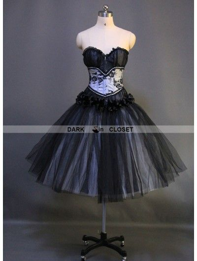 romantic-black-gothic-short-burlesque-corset-prom-party-dress.jpg ...