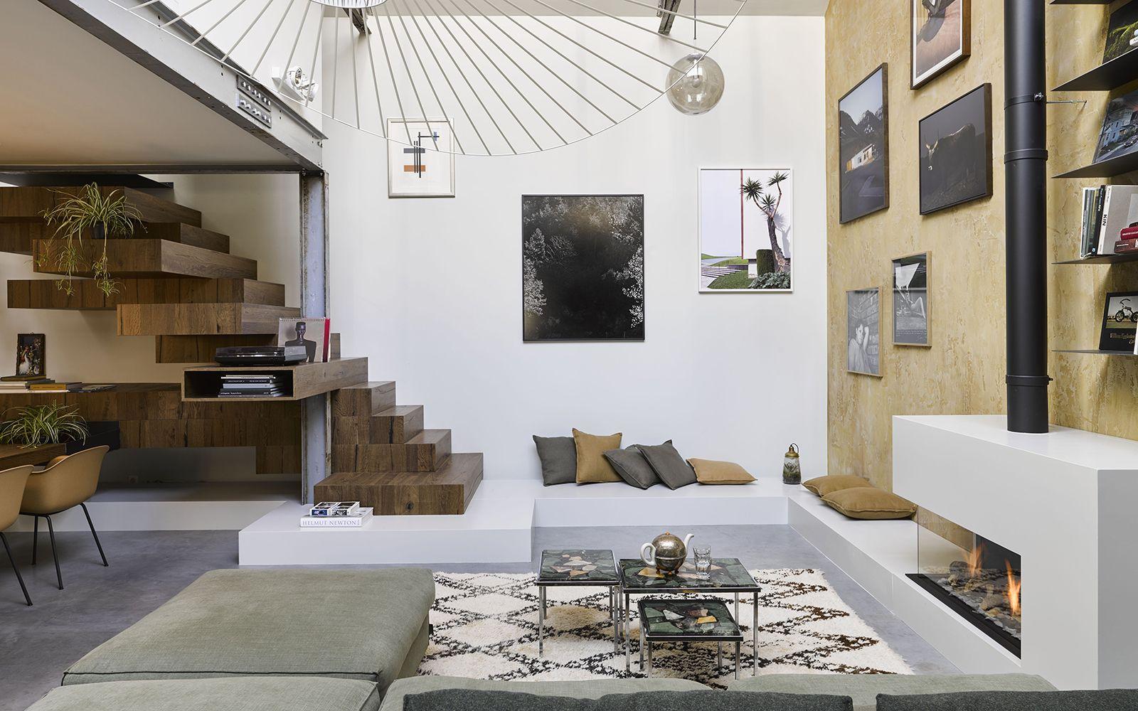 Luxueuze loft inrichting woonkamer pinterest lofts open