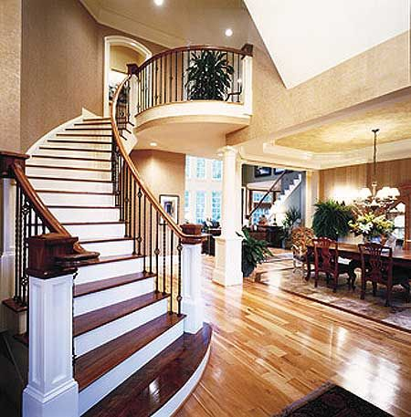 Plan 15634ge Four Bedroom Splendor House Design Luxury House House House plan with interior staircase