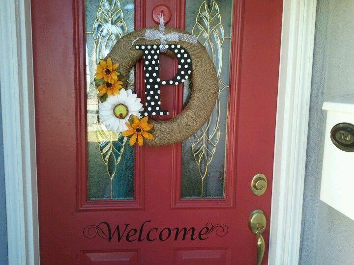 My Front Door Decor! It was so easy!