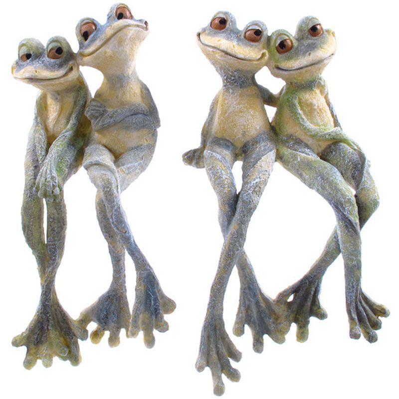 Cute Long Leg Frog Couple Ornament