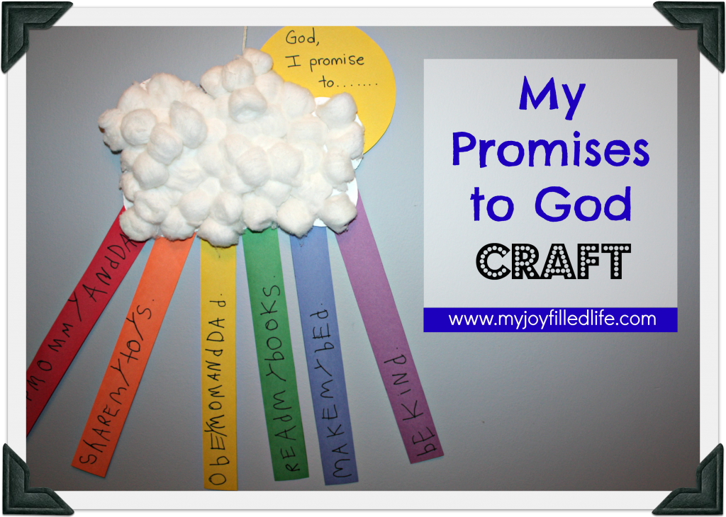 My Promises To God Craft Stuff To Try Sunday School Crafts
