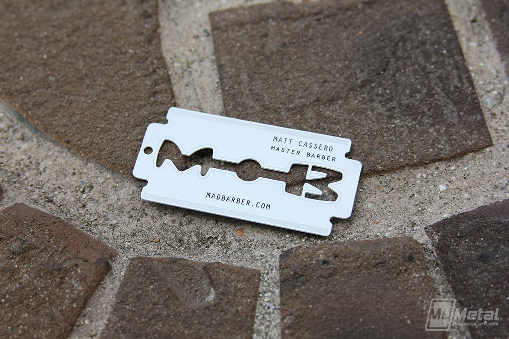 Stainless Steel Cards World Leader In Metal Business Cards Metal Business Cards Steel Cards Barber Business Cards
