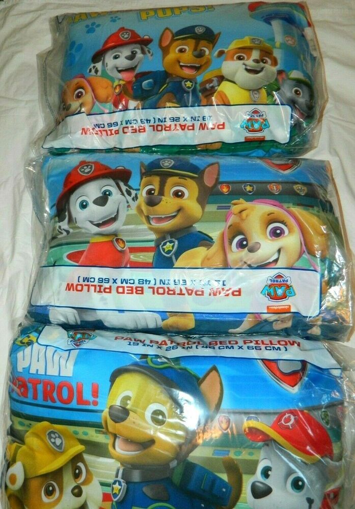 Details About Nickelodeon Paw Patrol Bed Pillow 19 Quot X 26