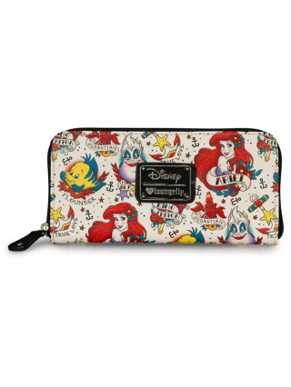 """Ariel Tattoo Print"" Pebble Wallet by Loungefly (Biege)"