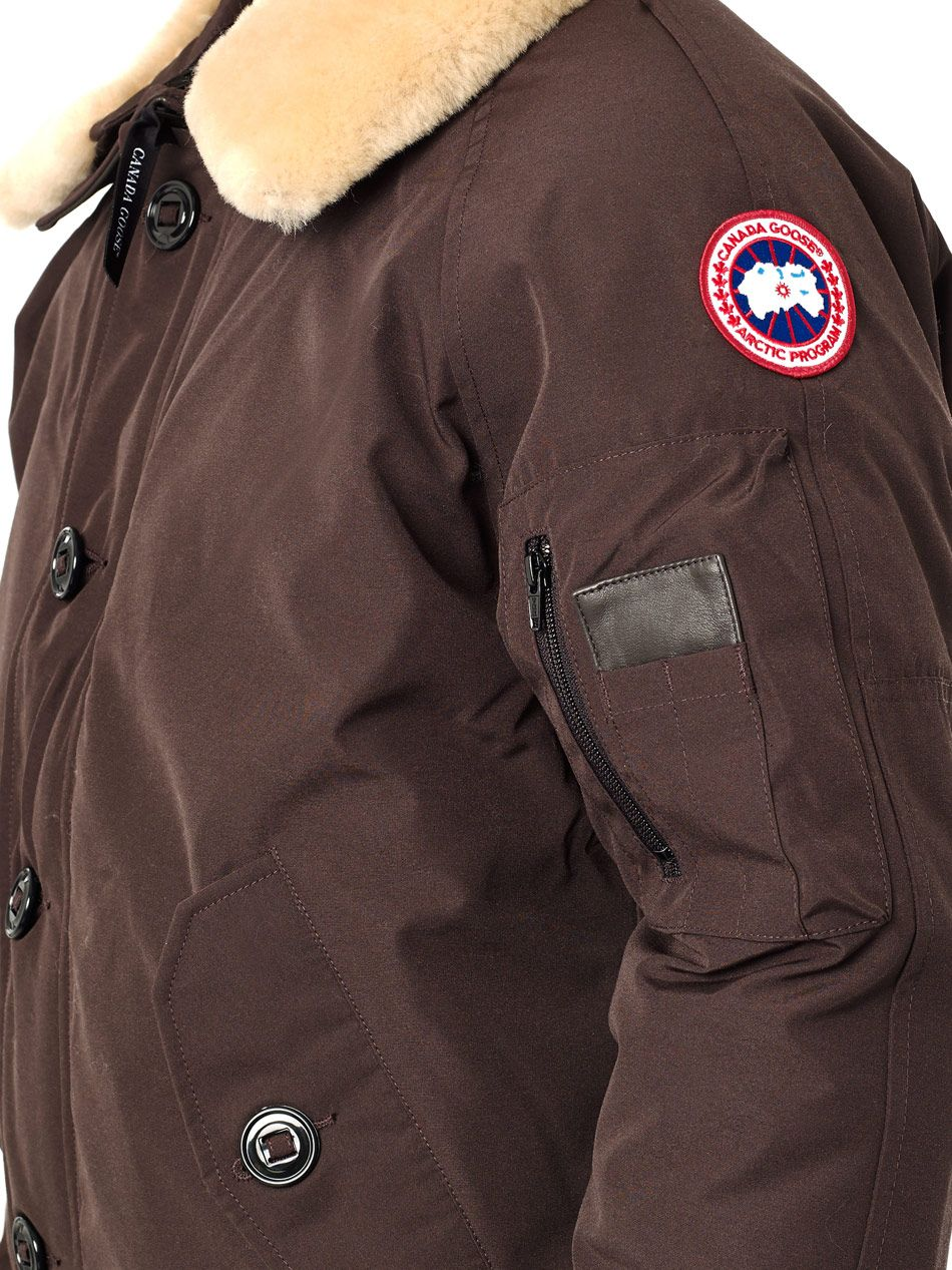 brown canada goose jacket