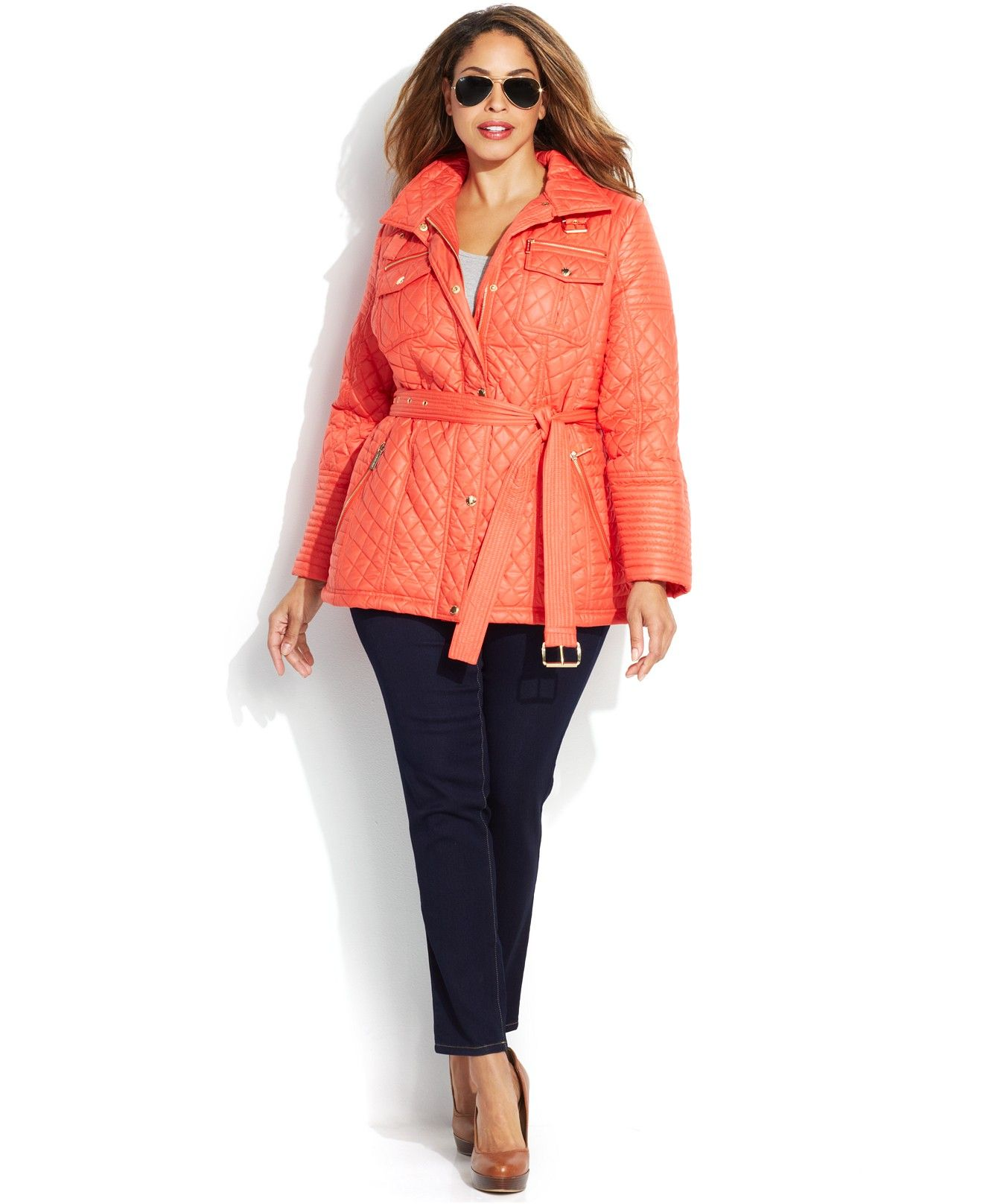 0b0ec777aae Plus Size Jacket - Plus Size Quilted Belted Jacket