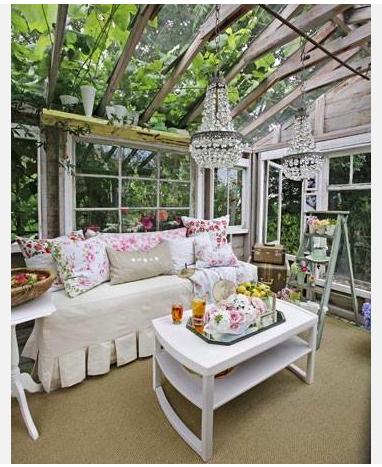 Pretty Outdoor Space Outdoor Rooms Shabby Chic Greenhouse She Sheds