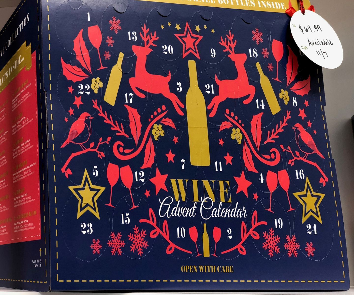 Aldi S Wine Cheese Advent Calendars Are Available Today Wine Advent Calendar Aldi Wine Wine Preserver