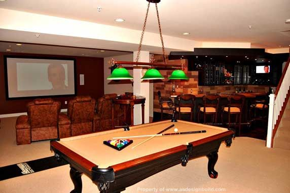 Delightful Two Toned Pool Table Room Idea