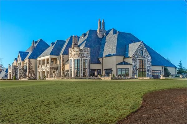 Stunning Old World Stone And Brick Home North Carolina