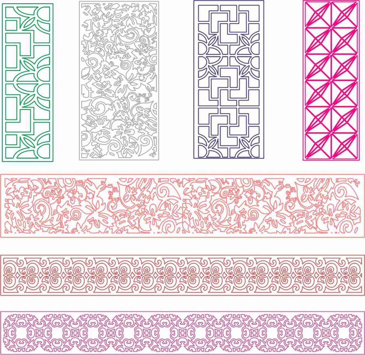 7 patterns dxf for cnc free in 2020 Cnc, Dxf, Free