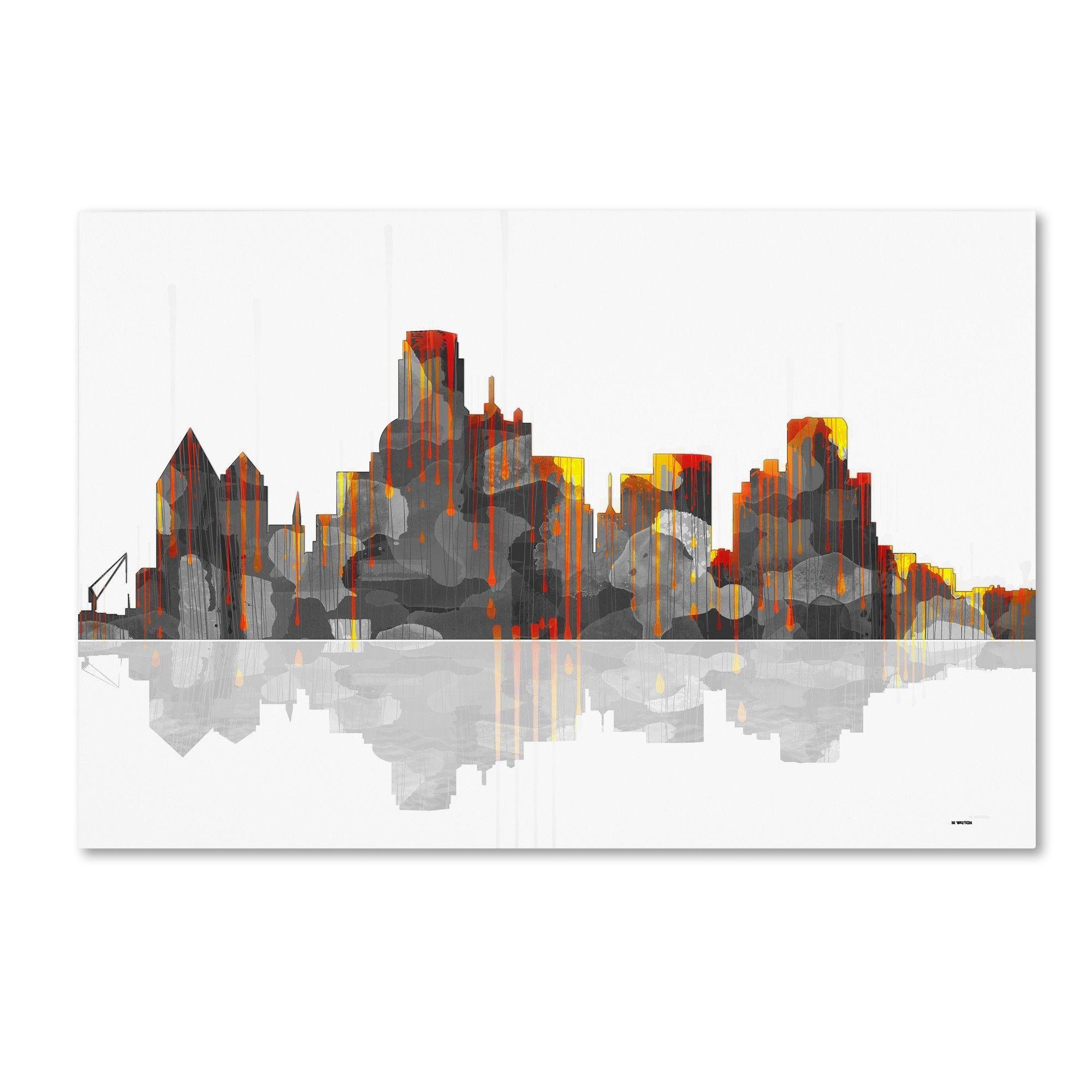 Dallas Texas Skyline by Marlene Watson Graphic Art on